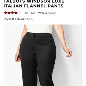 Talbots Italian fabric pants